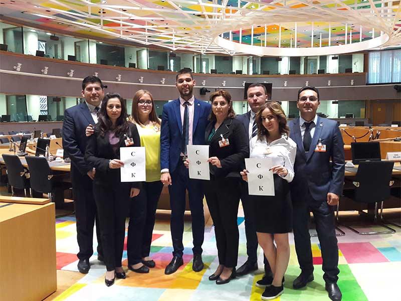 Студенти от Стопанска академия посетиха Световната митническа организация и Съвета на Европейския съюз в Брюксел