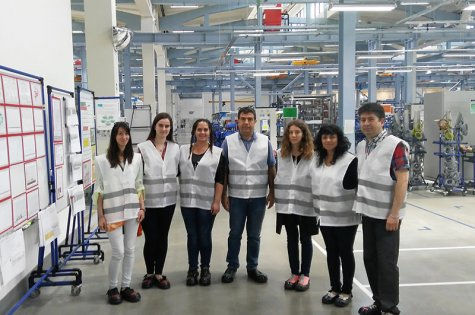 Students in International Economic Relations on a work visit at ABB Sevlievo