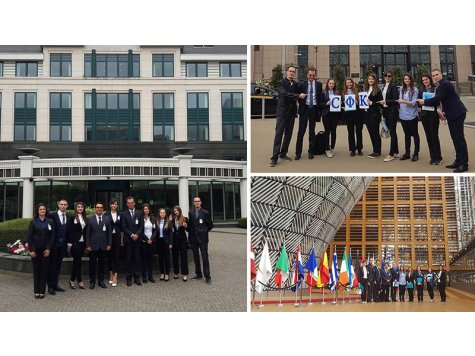 Students from D. A. Tsenov Academy of Economics visited the World Custom Organization and the Council of European Union in Brussel.
